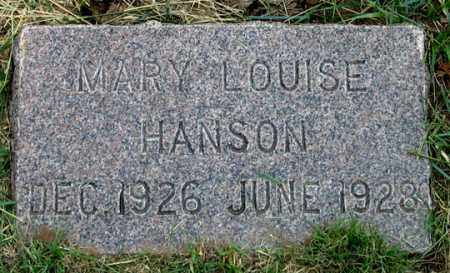 HANSON, MARY LOUISE - Dundy County, Nebraska | MARY LOUISE HANSON - Nebraska Gravestone Photos