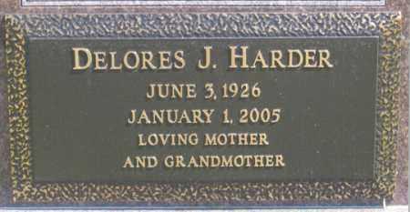 HARDER, DELORES J. - Dundy County, Nebraska | DELORES J. HARDER - Nebraska Gravestone Photos