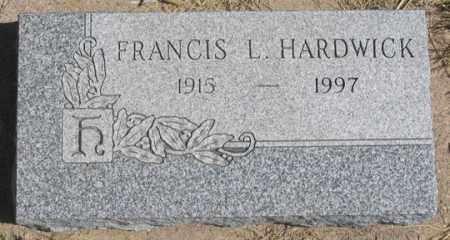 HARDWICK, FRANCIS L. - Dundy County, Nebraska | FRANCIS L. HARDWICK - Nebraska Gravestone Photos