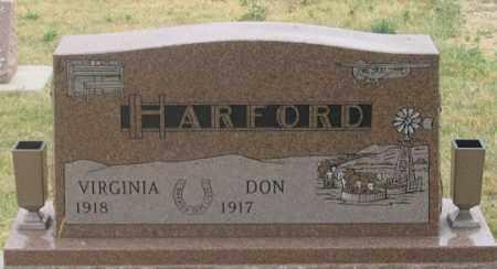 HARFORD, DON - Dundy County, Nebraska | DON HARFORD - Nebraska Gravestone Photos