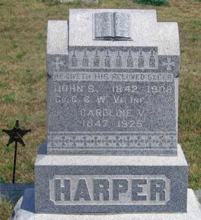 HARPER, CAROLINE V. - Dundy County, Nebraska   CAROLINE V. HARPER - Nebraska Gravestone Photos
