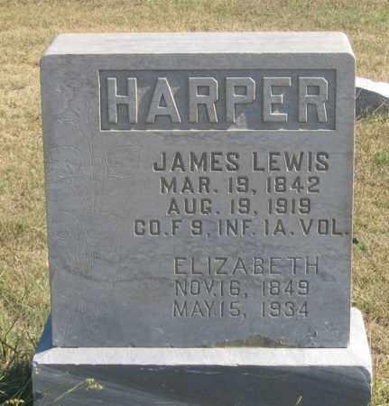HARPER, ELIZABETH - Dundy County, Nebraska | ELIZABETH HARPER - Nebraska Gravestone Photos