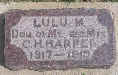 HARPER, LULU M. - Dundy County, Nebraska | LULU M. HARPER - Nebraska Gravestone Photos