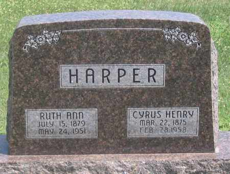 HARPER, RUTH ANN - Dundy County, Nebraska | RUTH ANN HARPER - Nebraska Gravestone Photos