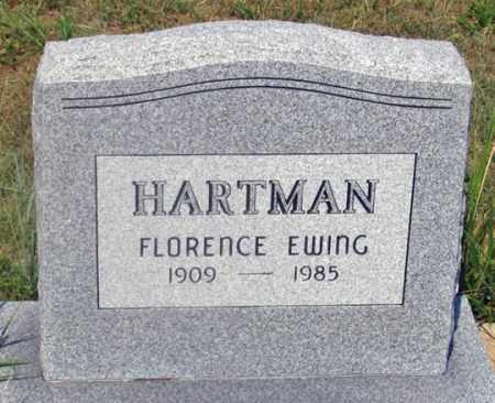 EWING HARTMAN, FLORENCE - Dundy County, Nebraska   FLORENCE EWING HARTMAN - Nebraska Gravestone Photos