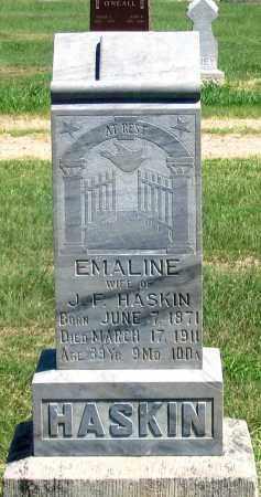 HASKIN, EMALINE - Dundy County, Nebraska | EMALINE HASKIN - Nebraska Gravestone Photos