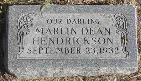 HENDRICKSON, MARLIN DEAN - Dundy County, Nebraska   MARLIN DEAN HENDRICKSON - Nebraska Gravestone Photos