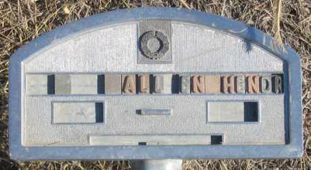 HENDRIX, ALLEN - Dundy County, Nebraska | ALLEN HENDRIX - Nebraska Gravestone Photos