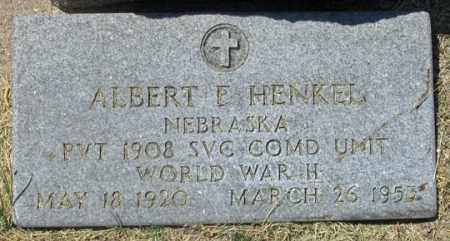 HENKEL, ALBERT E. - Dundy County, Nebraska   ALBERT E. HENKEL - Nebraska Gravestone Photos