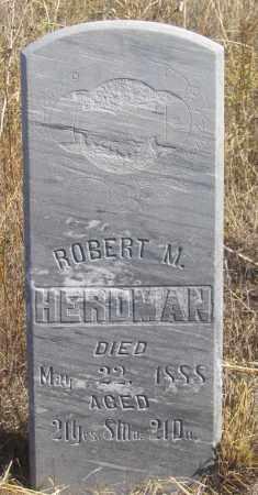 HERDMAN, ROBERT M. - Dundy County, Nebraska | ROBERT M. HERDMAN - Nebraska Gravestone Photos