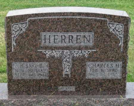 HERREN (HERRON?), JESSIE B. - Dundy County, Nebraska | JESSIE B. HERREN (HERRON?) - Nebraska Gravestone Photos