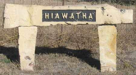 *HIAWATHA CEMETERY, SIGN - Dundy County, Nebraska | SIGN *HIAWATHA CEMETERY - Nebraska Gravestone Photos