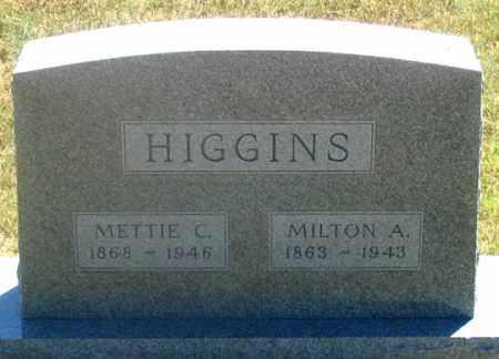 HIGGINS, MILTON A. - Dundy County, Nebraska | MILTON A. HIGGINS - Nebraska Gravestone Photos