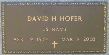HOFER, DAVID H. - Dundy County, Nebraska   DAVID H. HOFER - Nebraska Gravestone Photos