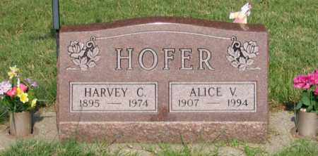 HOFER, ALICE V. - Dundy County, Nebraska | ALICE V. HOFER - Nebraska Gravestone Photos