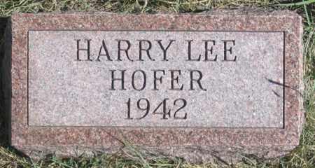 HOFER, HARRY LEE - Dundy County, Nebraska   HARRY LEE HOFER - Nebraska Gravestone Photos