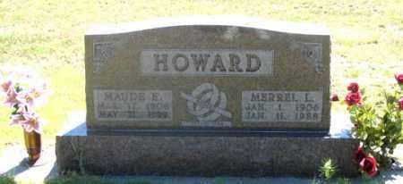 HOWARD, MAUDE E. - Dundy County, Nebraska   MAUDE E. HOWARD - Nebraska Gravestone Photos
