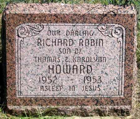 HOWARD, RICHARD ROBIN - Dundy County, Nebraska | RICHARD ROBIN HOWARD - Nebraska Gravestone Photos