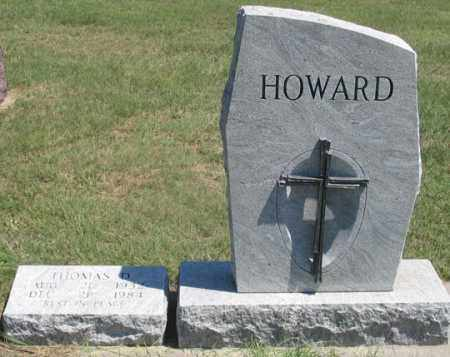 HOWARD, THOMAS GRAVE SITE - Dundy County, Nebraska | THOMAS GRAVE SITE HOWARD - Nebraska Gravestone Photos