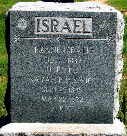 TURNER ISRAEL, SARAH E. - Dundy County, Nebraska | SARAH E. TURNER ISRAEL - Nebraska Gravestone Photos