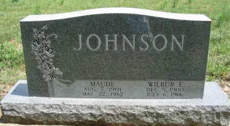 JOHNSON, WILBUR ERNEST - Dundy County, Nebraska | WILBUR ERNEST JOHNSON - Nebraska Gravestone Photos