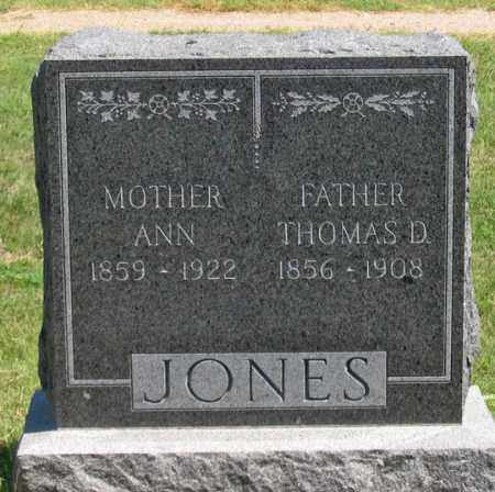 JONES, THOMAS D. - Dundy County, Nebraska | THOMAS D. JONES - Nebraska Gravestone Photos