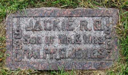 JONES, JACKIE RONALD D. - Dundy County, Nebraska | JACKIE RONALD D. JONES - Nebraska Gravestone Photos