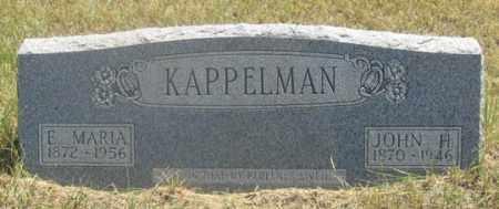 KAPPLEMAN, E. MARIA - Dundy County, Nebraska | E. MARIA KAPPLEMAN - Nebraska Gravestone Photos