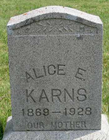 MILLER KARNS, ALICE E. - Dundy County, Nebraska | ALICE E. MILLER KARNS - Nebraska Gravestone Photos