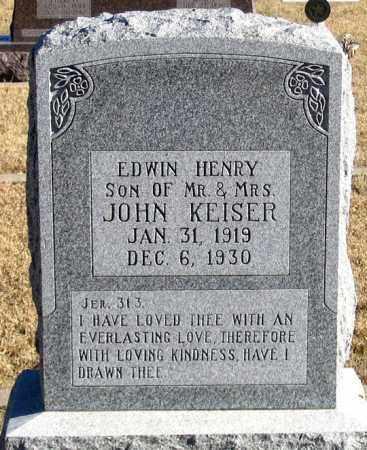 KEISER, EDWIN HENRY - Dundy County, Nebraska | EDWIN HENRY KEISER - Nebraska Gravestone Photos