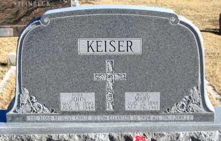 HAARBERG KEISER, MARY - Dundy County, Nebraska | MARY HAARBERG KEISER - Nebraska Gravestone Photos