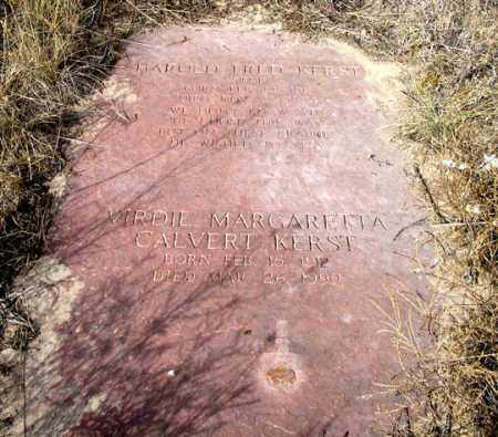 KERST, VIRDIE MARGARETTA - Dundy County, Nebraska | VIRDIE MARGARETTA KERST - Nebraska Gravestone Photos