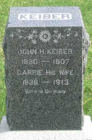 KIEBER (KEIBER), JOHN H. - Dundy County, Nebraska | JOHN H. KIEBER (KEIBER) - Nebraska Gravestone Photos