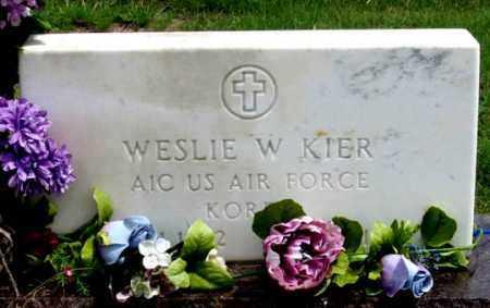 KIER, WESLIE W. - Dundy County, Nebraska | WESLIE W. KIER - Nebraska Gravestone Photos