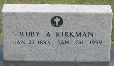 KIRKMAN, RUBY A. - Dundy County, Nebraska | RUBY A. KIRKMAN - Nebraska Gravestone Photos