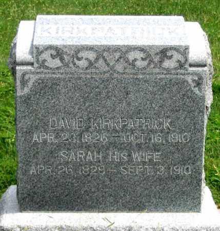 KIRKPATRICK, DAVID - Dundy County, Nebraska   DAVID KIRKPATRICK - Nebraska Gravestone Photos