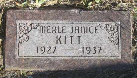 KITT, MERLE JANICE - Dundy County, Nebraska | MERLE JANICE KITT - Nebraska Gravestone Photos