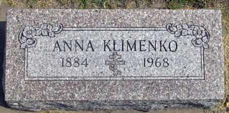 KLIMENKO, ANNA - Dundy County, Nebraska | ANNA KLIMENKO - Nebraska Gravestone Photos