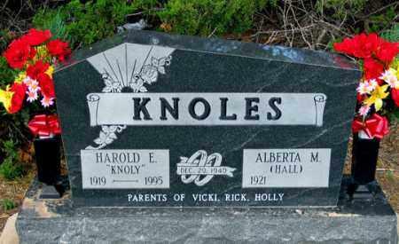 HALL KNOLES, ALBERTA M. - Dundy County, Nebraska | ALBERTA M. HALL KNOLES - Nebraska Gravestone Photos