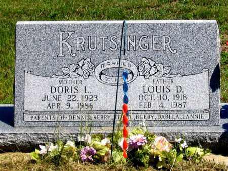 KRUTSINGER, DORIS L. - Dundy County, Nebraska | DORIS L. KRUTSINGER - Nebraska Gravestone Photos