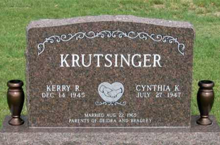 KRUTSINGER, CYNTHIA K. - Dundy County, Nebraska   CYNTHIA K. KRUTSINGER - Nebraska Gravestone Photos