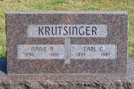 KRUTSINGER, MARIE A. - Dundy County, Nebraska | MARIE A. KRUTSINGER - Nebraska Gravestone Photos