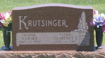 KRUTSINGER, SARAH GRACE - Dundy County, Nebraska | SARAH GRACE KRUTSINGER - Nebraska Gravestone Photos