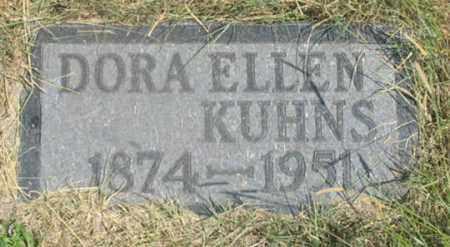 KUHNS, DORA ELLEN - Dundy County, Nebraska | DORA ELLEN KUHNS - Nebraska Gravestone Photos