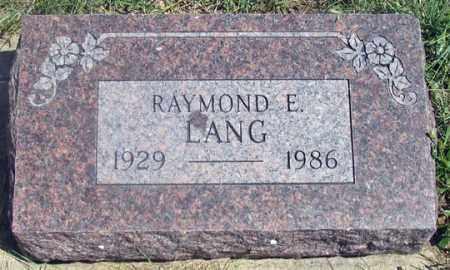 LANG, RAYMOND E. - Dundy County, Nebraska | RAYMOND E. LANG - Nebraska Gravestone Photos
