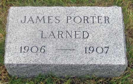 LARNED, JAMES PORTER - Dundy County, Nebraska | JAMES PORTER LARNED - Nebraska Gravestone Photos