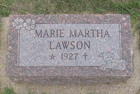 LAWSON, MARIE MARTHA - Dundy County, Nebraska | MARIE MARTHA LAWSON - Nebraska Gravestone Photos