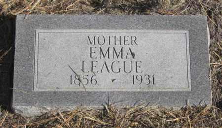 LEAGUE, EMMA - Dundy County, Nebraska | EMMA LEAGUE - Nebraska Gravestone Photos