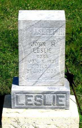 LESLIE, JOHN H. - Dundy County, Nebraska | JOHN H. LESLIE - Nebraska Gravestone Photos