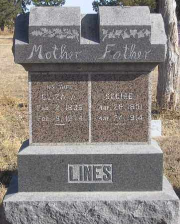 LINES, ELIZA A. - Dundy County, Nebraska | ELIZA A. LINES - Nebraska Gravestone Photos
